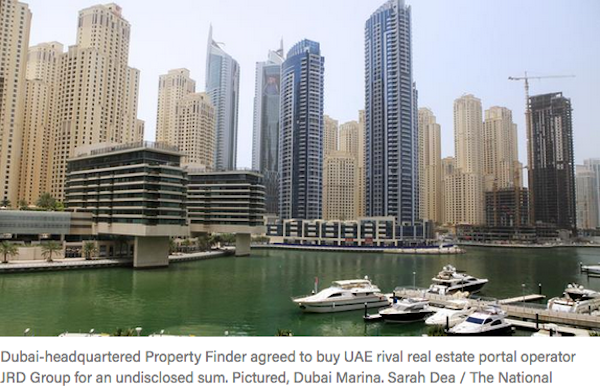 Property Finder to buy UAE rival JRD Group